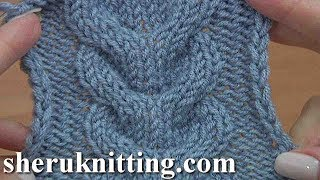 How to Knit  Horseshoe Cable Stitch Tutorial 24 Knitting Stitch Pattern