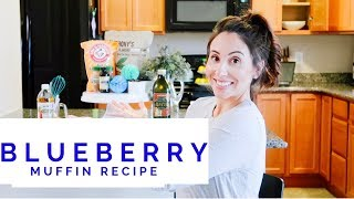 keto blueberry muffins made with almond flour