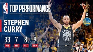Stephen Curry Records Finals RECORD 9 made 3pt FG in Game 2   2018 NBA Finals