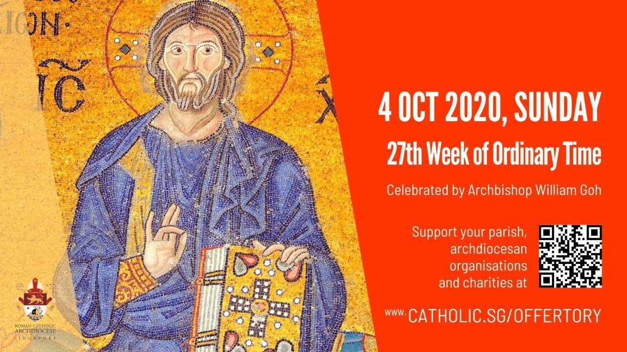 Catholic Sunday Mass Today Live Online Sunday 4 October 2020, 27th Week of Ordinary Time