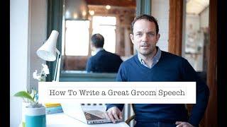How to Write a Groom Speech