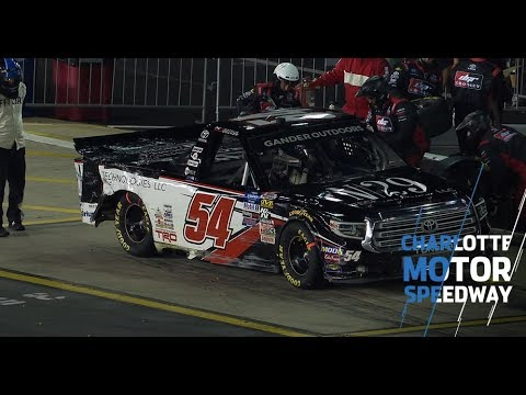 Decker hits outside wall after spin at Charlotte