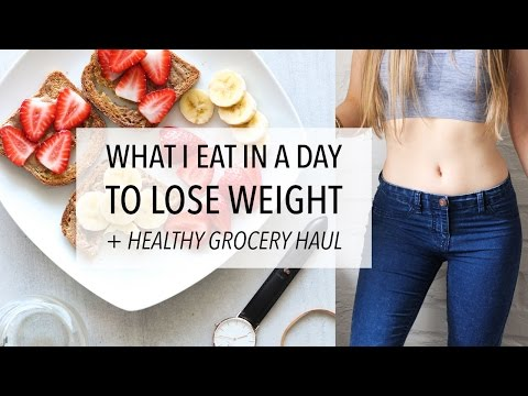 Video WHAT I EAT IN A DAY TO LOSE WEIGHT + HEALTHY GROCERY HAUL (DAY 8)
