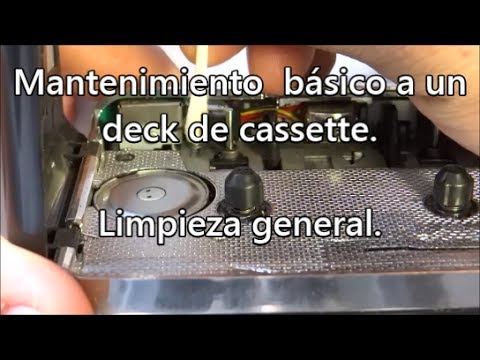 Cómo darle mantenimiento básico a un deck de cassette / casetera / walkman / grabadora