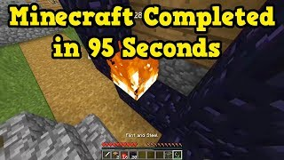 Minecraft World Record - BEATEN in 95 Seconds!? Analysis
