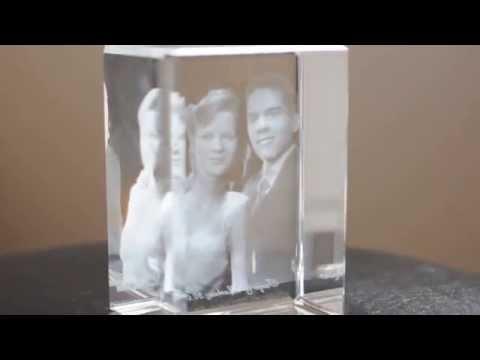 Looxis 3D Laser Foto im Mega Viamant Glas