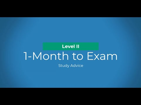 Level II CFA: Study Advice - 1 Month to the Exam - YouTube