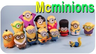Minions Movie 2015 McDonalds Happy Meal 12 Talking Toys Collection