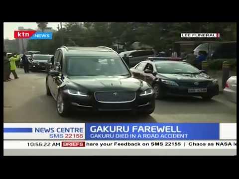 Farewell Gakuru: Motorcade carrying the late Wahome's body
