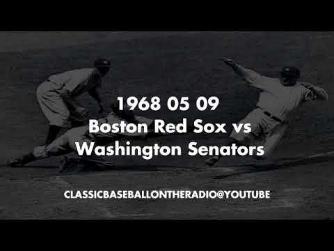 1968 05 09 Boston Red Sox vs Washington Senators