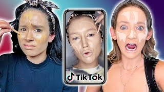 Trying The CRAZY TikTok Foundation Hack *does it work?!* by Clevver Style