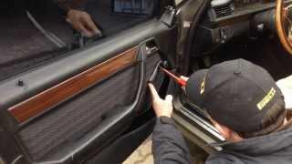 Как снять дверную карту Mercedes Benz W124 | Removing the door card Mercedes