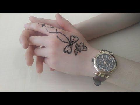 Basit hint kınası modeli/ nasıl yapılır/ henna tattoo/ mahendi
