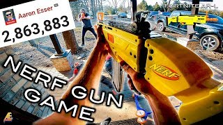 NERF GUN GAME: 2 MILLION SUBSCRIBERS! (First Person Shooter)