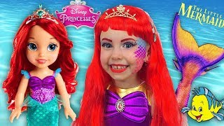 Alice Becames Little Mermaid Ariel A Funny Story About A Magical Toys