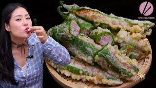 Korean Stuffed Peppers | Korean Street Food Gochu Twigim! 🌶
