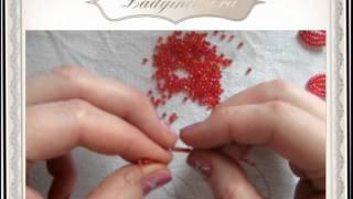 Смотреть онлайн Как делать французское плетение бисером