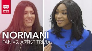 Normani Challenges Super Fan In Trivia About Herself | Fan vs. Artist Trivia