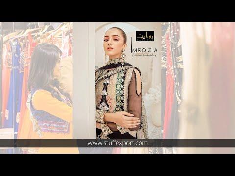 Rawayat Imrozia Premium Embroidery Pakistani Style Heavy Suits Catalog