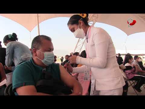 Continua aplicación de segunda dosis de vacuna contra COVID 19 a personas de 40 a 49 años de edad