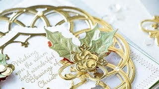 Layered Holiday Card With Label 46 Decorative Accents Dies