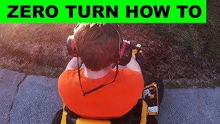 How to use a Cub Cadet Ultima ZT1 Zero Turn