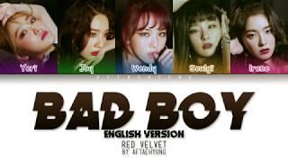 Red Velvet   Bad Boy (English Version) (Color Coded ENG Lyrics)
