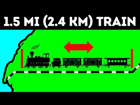 The World's Longest Train Goes Through the Sahara Desert