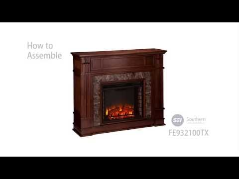 FE9321: Highgate Faux Stone Electric Media Fireplace - Assembly Video