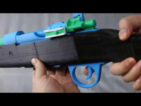 用3D列印做出98K玩具槍