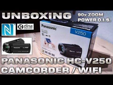 Panasonic HC-V250 [UNBOXING] NFC/WiFi Enabled 90xZOOM / Touchscreen FullHD 1080/50p Camcorder