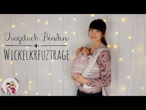 Tragetuch Binden: WICKELKREUZTRAGE (Neugeborenes Baby) | Anleitung