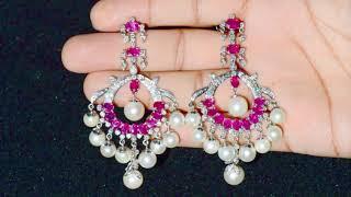 RD Peral Chandelier Earrings