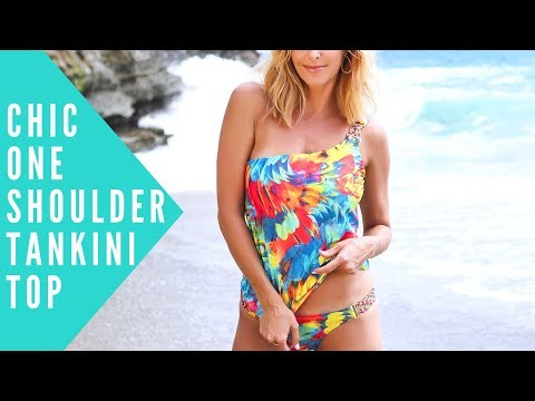 TINA One Shoulder Tankini Top | BeachCandy Swimwear Review