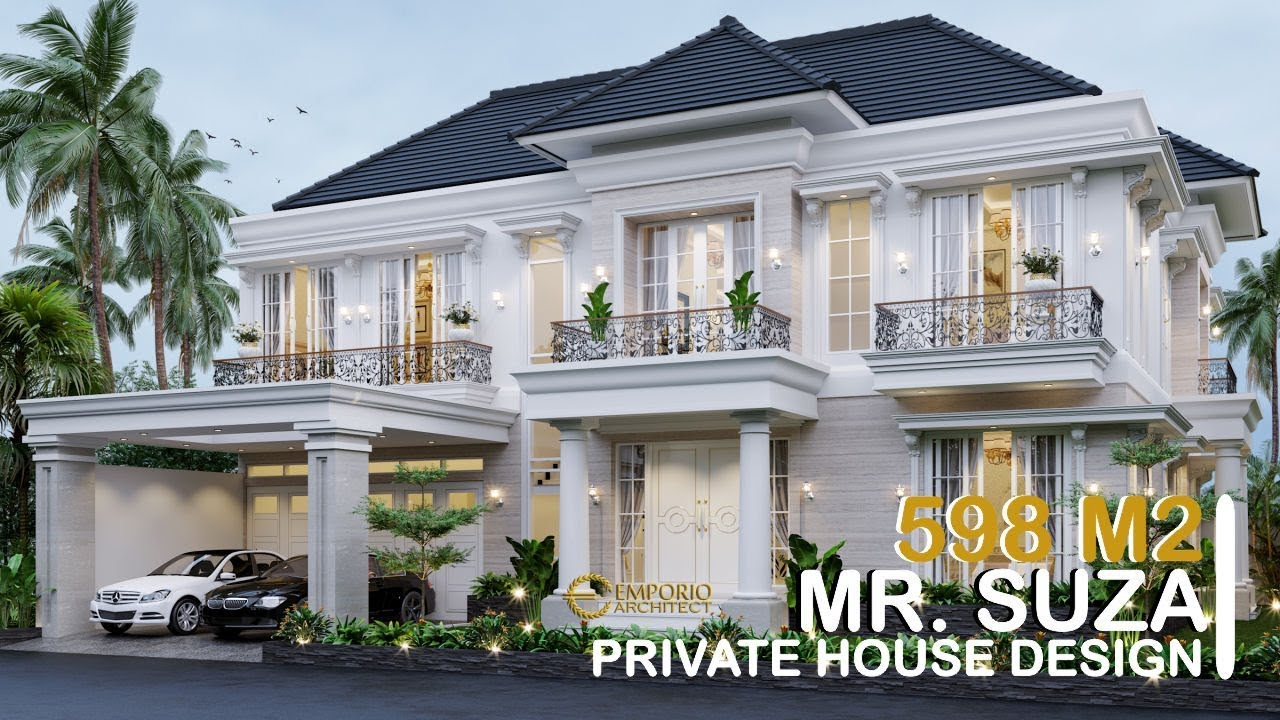 Video 3D Mr. Suza Classic House 2 Floors Design - Pekanbaru, Riau