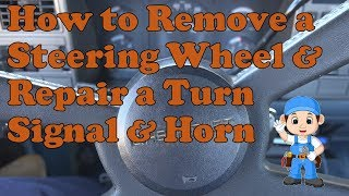Remove a steering wheel & repair a horn on a 1988-1998 chevy k1500