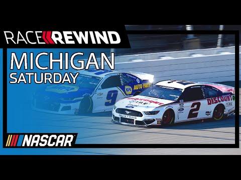 NASCAR ファイアキーパーズ カジノ400(ミシガン・インターナショナル・スピードウェイ)15分でみるハイライト動画