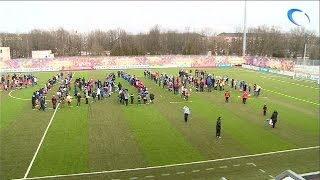 На стадионе «Электрон» прошел флешмоб и товарищеский матч по футболу «Одна страна - одна команда»