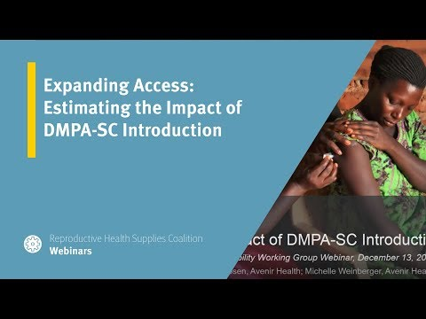 Expanding Access: Estimating the Impact of DMPA-SC Introduction