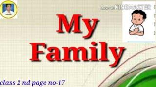 class 2 nd - My Family