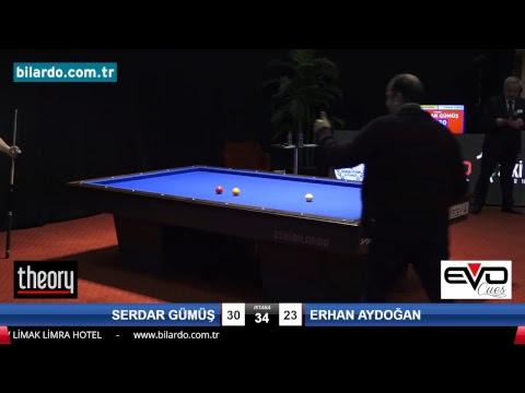 SERDAR GÜMÜŞ & ERHAN AYDOĞAN Bilardo Maçı - 2018 VETERANLAR 1.ETAP -Final