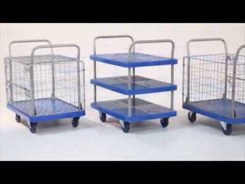 Proplaz Blue Platform Trolleys