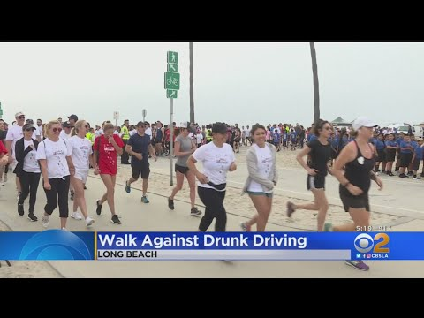 MADD Holds Annual Walk Against Drunk Driving In Long Beach