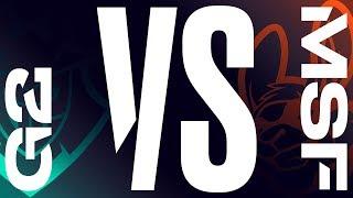 G2 vs. MSF - Week 4 Day 1 | LEC Summer Split| G2 Esports vs. Misfits Gaming (2019)