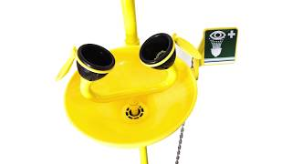 Emergency Shower & Double Outlet Eye Washer - Yellow