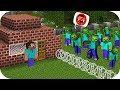 NOOB, ZOMBİ SALGININA KARŞI GELİYOR! - Minecraft #1