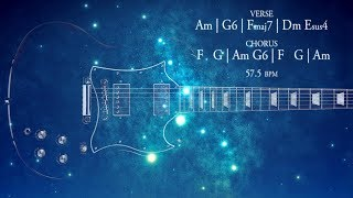 Space Rock Ballad Guitar Backing Track A Minor Jam
