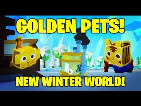 GOLDEN PETS! Winter World! - Pet Simulator 2