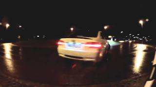 preview picture of video 'BMW M3 E92  Roundabout Drift'
