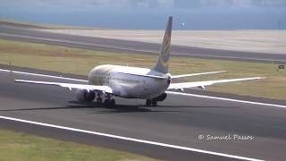 B737 Primera LONG RUN HEAVY TAKE OFF in Madeira